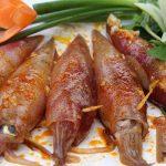 Mực om nước dừa hạt sen thơm ngon hương vị đồng quê