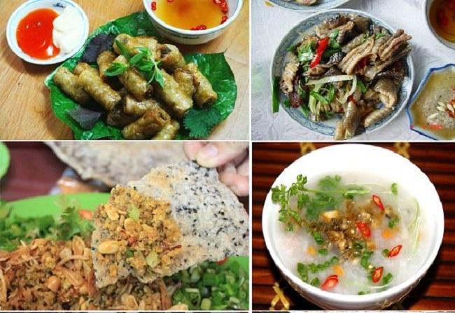 Các món ăn được chế biến từ đẻn biển